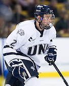 Connor Hardowa (UNH - 2) - The Merrimack College Warriors defeated the University of New Hampshire Wildcats 4-1 in their Hockey East Semi-Final on Friday, March 18, 2011, at TD Garden in Boston, Massachusetts.
