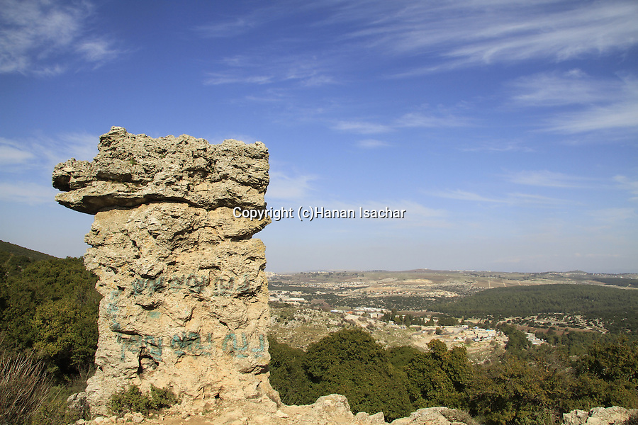 "Israel, Upper Galilee, ""Elijah's chair"" (kise eliyahu) on Mount Meron"