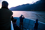National Geographic Sea Lion's trip to the Eastern Columbia River Gorge. Early risers catch the first glimpse of Multnomah Falls in the Columbia River Gorge.
