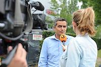 SCHAATSEN: LIJNDEN: 15-07-2014, Presentatie Koen Verweij Schaatsteam Corendon, Corendon directeur Atilay Uslu, ©foto Martin de Jong