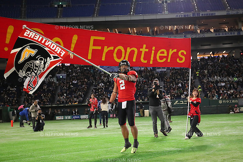Kenta Sato (Frontiers), <br /> DECEMBER 12, 2016 - American Football : <br /> X League Championship &quot;Japan X Bowl&quot; <br /> between Obic Seagulls 3-16 Fujitsu Frontiers <br /> at Tokyo Dome, Tokyo, Japan. <br /> (Photo by YUTAKA/AFLO SPORT)