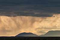 Absaroka Front from the western Bighorn Basin in Wyoming at sunset