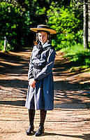Girl portraying &quot;Anne of Green Gables&quot;, Green Gables House, Cavendish, Prince Edward Island, Canada