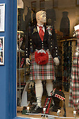 John Morrison kiltmaker's shop in Edinburgh's Royal Mile.