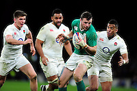 Robbie Henshaw of Ireland in possession. RBS Six Nations match between England and Ireland on February 27, 2016 at Twickenham Stadium in London, England. Photo by: Patrick Khachfe / Onside Images