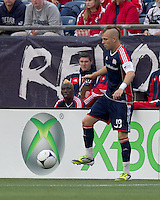 New England Revolution midfielder Alec Purdie (99) at midfield. In a Major League Soccer (MLS) match, the New England Revolution defeated Portland Timbers, 1-0, at Gillette Stadium on March 24, 2012