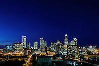 Charlotte North Carolina Skyline Photography.<br /> Photography of the uptown/downtown Charlotte skyline.<br /> <br /> Charlotte Photographer - PatrickSchneiderPhoto.com