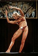 Los Angeles, 1980. Claudia Wilbourn at  California Women's Bodybuilding Championship.