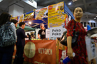 Food stall, Hyper Japan 2014, Earls Court, London, UK, July 25, 2014. Hyper Japan is the UK's largest Japanese culture event. It took place at the Earls Court exhibition space from 25 to 27 July 2014.