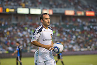LA Galaxy forward Landon Donovan (10) moves to the corner for a kick. The LA Galaxy and the San Jose Earthquakes played to a 2-2 draw at Home Depot Center stadium in Carson, California on Thursday July 22, 2010.