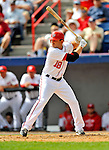 6 March 2011: Washington Nationals' infielder Danny Espinosa in action during a Spring Training game against the Atlanta Braves at Space Coast Stadium in Viera, Florida. The Braves shut out the Nationals 5-0 in Grapefruit League action. Mandatory Credit: Ed Wolfstein Photo