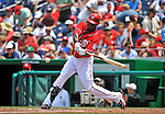 10 July 2011: Washington Nationals outfielder Roger Bernadina in action against the Colorado Rockies at Nationals Park in Washington, District of Columbia. The Nationals shut out the visiting Rockies 2-0 salvaging the last game their 3-game series at home prior to the All-Star break. Mandatory Credit: Ed Wolfstein Photo