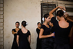 Dancers prepare for a dress rehearsal, in Havana, Cuba, on Wednesday, April 17, 2008.