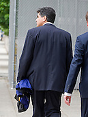 Washington, DC - May 14, 2009 -- Former F.B.I. Agent Mark Rossini, boyfriend of actress Linda Fiorentino, leaves U.S. District Court in Washington, D.C. after being sentenced to a year's probation and a $5,000 fine for his role in illegally accessing F.B.I. documents..Credit: Ron Sachs / CNP .(RESTRICTION: NO New York or New Jersey Newspapers or newspapers within a 75 mile radius of New York City)