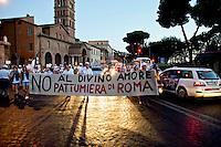 Notte dei Fori ,proteste dei No Discarica
