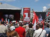 Kundgebung prorussisch orientierter Kräfte in Moldau am 01.Mai.