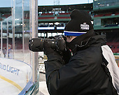Tori Pizzuto is a member of the women's hockey team at UMB. - The University of Massachusetts Boston Beacons defeated the Salem State University Vikings 4-2 (EN) on Tuesday, January 7, 2014, at Fenway Park in Boston, Massachusetts.