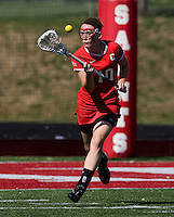 Caroline Helmer (10) of Cornell takes control of the ball during their game at St. Stephens and St. Agnes High School in Alexandria, VA.  North Carolina defeated Cornell, 13-7.