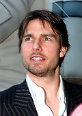 "Tom Cruise, narrator of the new film ""Imax Space Station 3D"", arrives at the National Air and Space Museum for the premiere of the movie in Washington, D.C. on April 17, 2002..Credit: Ron Sachs / CNP"