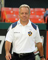 Dve Sarachan assistant coach of the Los Angeles Galaxy during an MLS match against D.C. United at RFK Stadium on July 18 2010, in Washington D.C. Galaxy won 2-1.