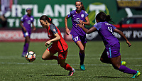 Portland, OR - Saturday April 15, 2017: Hayley Raso during a regular season National Women's Soccer League (NWSL) match between the Portland Thorns FC and the Orlando Pride at Providence Park.