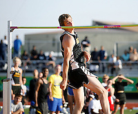 Grant Lindsey of  Mansfield High School cleared 7'3 in the High Jump @ the Regional Qualifiers Meet held @ Baylor Univ., Waco, Texas on Friday, April 20, 2007. Photo by Errol Anderson, The Sporting Image.