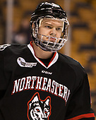 Eric Williams (NU - 20) - The Harvard University Crimson defeated the Northeastern University Huskies 4-3 in the opening game of the 2017 Beanpot on Monday, February 6, 2017, at TD Garden in Boston, Massachusetts.