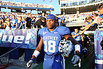 Randall Cobb walks onto the field before the first quarter of the UK vs Akron home game on  Saturday, September 18, 2010. Photo by Britney McIntosh | Staff