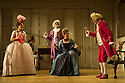 THE SCHOOL FOR SCANDAL opens the Theatre Royal Bath's summer season of new in-house productions, overseen by leading guest director, Jamie Lloyd. Picture shows:  Susannah Fielding (Lady Teazle),  Edward Bennett (Joseph Surface), Grant Gillespie (Sir Benjamin Backbite), Maggie Steed (Mrs Candour), David Killick (Crabtree).