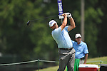 Golfer Vance Veazey tees off on the 2nd hole at the PGA FedEx St. Jude Classic at TPC Southwind in Memphis, Tenn. on Thursday, June 9, 2011.