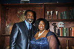 All My Children Norm Lewis poses with castmate NaTasha Yvette Williams as they star as  in The Gershwins' Porgy and Bess on Opening Night - January 12, 1212 at the Richard Rogers Theatre, New York City, New York.  (Photo by Sue Coflin/Max Photos)