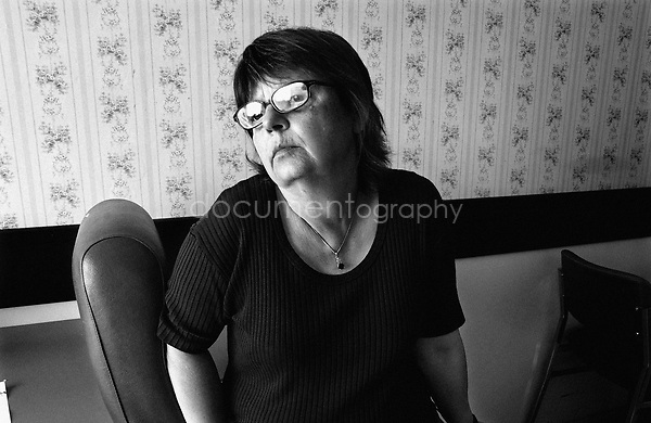 After her hip's surgery my grandmother had to leave to a third hostpital to try to recover and exercise. My mother knew already there would never have any progress. ..© Magali Corouge/Documentography.2004-2006.France