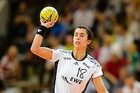 Sabrina Neuendorf (VFL) beim Wurf
