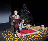 Belarus Free Theatre<br /> Time of Women by Nicolai Khalezin and Natalia Kaliada<br /> at The Young Vic Theatre, London, Great Britain <br /> press photocall <br /> 9th November 2015 <br /> <br /> <br /> <br /> Maryna Yurevich<br /> <br /> Maryia Sazonava<br /> <br /> <br /> Photograph by Elliott Franks <br /> Image licensed to Elliott Franks Photography Services