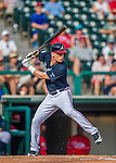 11 March 2016: Atlanta Braves outfielder Connor Lien in action during a Spring Training pre-season game against the Philadelphia Phillies at Champion Stadium in the ESPN Wide World of Sports Complex in Kissimmee, Florida. The Phillies defeated the Braves 9-2 in Grapefruit League play. Mandatory Credit: Ed Wolfstein Photo *** RAW (NEF) Image File Available ***