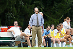 17 October 2013: UNC head coach Anson Dorrance. The University of North Carolina Tar Heels hosted the Syracuse University Orangemen at Fetzer Field in Chapel Hill, NC in a 2013 NCAA Division I Women's Soccer match. UNC won the game 1-0.