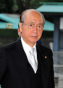 September 2, 2011, Tokyo, Japan - Takeshi Maeda, newly-appointed minister of Land, Infrastructure, Transport and Tourism, arrives for an attestation ceremony before Emperor Akihito at the Imperial Palace in Tokyo on Friday, September 2, 2011. (Photo by Natsuki Sakai/AFLO) [3615] -mis-