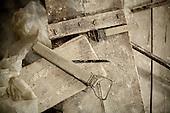 Cracow, Poland, March 1, 2011:.Tool at Czeslaw Dzwigaj sculptor workshop, used for a  monument of pope John Paul 2. Dzwigaj has made over 70 sculptures of the late pope..(Photo by Piotr Malecki / Napo Images)..Krakow, 1/03/2011:.Narzedzie w pracowni profesora Czeslawa Dzwigaja. Zrobil on juz 72 pomniki papieza Jana Pawla II.Fot: Piotr Malecki / Napo Images