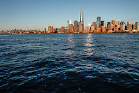 The skyline of New York City is seen from Jersey City on february 2014, Photo by Kena Betancur / VIEWpress.