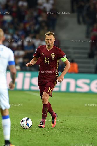 Vasili Berezutski (Russia) ; <br /> June 15, 2016 - Football : Uefa Euro France 2016, Group B, Russia 1-2 Slovakia at Stade Pierre Mauroy, Lille Metropole, France.; ;(Photo by aicfoto/AFLO)