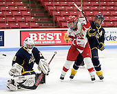 Kasey Martin (Windsor - 20), Shannon Mahoney (BU - 14), Cassandra Finn (Windsor - 71) - The Boston University Terriers defeated the visiting University of Windsor Lancers 4-1 in a Saturday afternoon, September 25, 2010, exhibition game at Walter Brown Arena in Boston, MA.