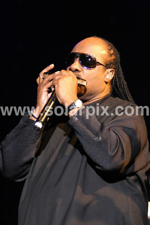 **ALL ROUND PICTURES FROM SOLARPIX.COM**.**WORLDWIDE SYNDICATION RIGHTS**.Stevie Wonder with his daughter Aisha in concert at the NIA in the town of Birmingham in the north of England the event was held on the 08_09_08..This pic:Stevie Wonder..JOB REF:7257-NYA     DATE:08_09_08.**MUST CREDIT SOLARPIX.COM OR DOUBLE FEE WILL BE CHARGED* *UNDER NO CIRCUMSTANCES IS THIS IMAGE TO BE REPRODUCED FOR ANY ONLINE EDITION WITHOUT PRIOR PERMISSION*