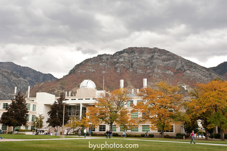 0610-01 BYU General Campus Scenics..GCS..View of ESC, Fall, Y-mountain..October 2, 2006..Photography by Jaren Wilkey/BYU..Copyright BYU Photo 2006.All Rights Reserved.photo@byu.edu   (801)422-7322