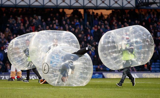 Bouncy bouncy football at half-time