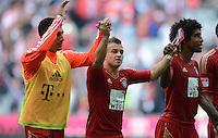 FUSSBALL   1. BUNDESLIGA  SAISON 2012/2013   3. Spieltag FC Bayern Muenchen - FSV Mainz 05     15.09.2012 Emre Can, Xherdan Shaqiri und Dante (v. li., FC Bayern Muenchen)