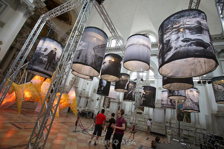 "54th Biennale of Venice..ILLUMInazioni - ILLUMInations.Ukrainian exhibition at San Stae church..Mykola Zhuravel, Vitaliy Ocheretyanyy, ""Apiary. Destiny Drums"", 2011, curated by Achille Bonito Oliva."