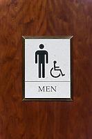 Mens room sign.