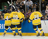 Jordan Heywood (Merrimack - 4), Bobby Kramer (Merrimack - 10), Fraser Allen (Merrimack - 2), Adam Ross (Merrimack - 26) - The University of Notre Dame Fighting Irish defeated the Merrimack College Warriors 4-3 in overtime in their NCAA Northeast Regional Semi-Final on Saturday, March 26, 2011, at Verizon Wireless Arena in Manchester, New Hampshire.