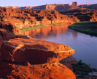 Colorado River Bend, Canyonlands National Park, Utah     River in spring flood
