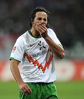 FUSSBALL   1. BUNDESLIGA  SAISON 2011/2012   10. Spieltag FC Augsburg - SV Werder Bremen           21.10.2011 Claudio Pizarro (SV Werder Bremen)